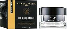 Духи, Парфюмерия, косметика Питательный ночной крем - Satara Mineral Active Nourishing Night Cream