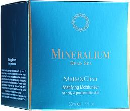 Духи, Парфюмерия, косметика Матирующий увлажняющий крем для жирной проблемной кожи - Mineralium Dead Sea Matte & Clear Matifying Moisturizer For Oily&Problemaic Skin