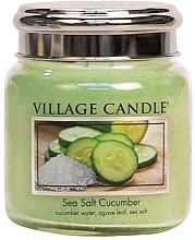 Духи, Парфюмерия, косметика Ароматическая свеча в банке - Village Candle Sea Salt Cucumber Candle