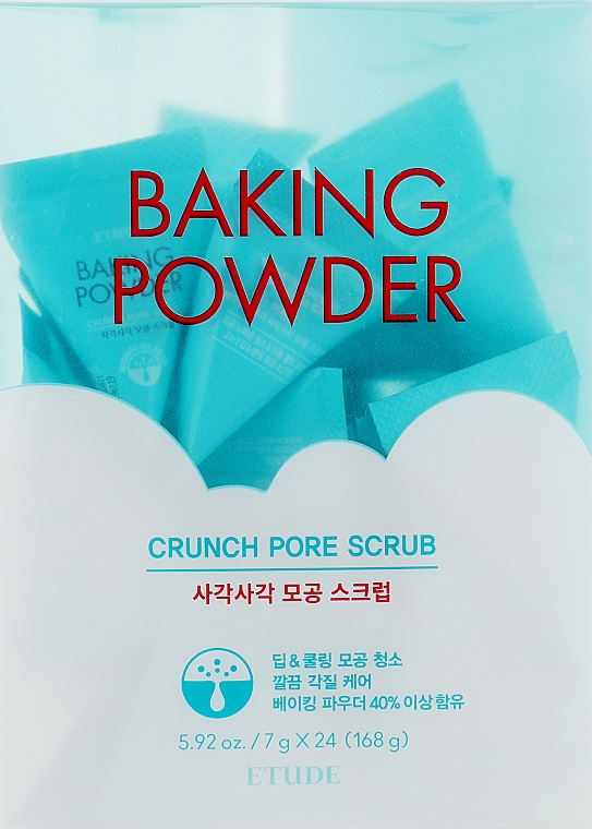 Скраб для очищения кожи лица с пищевой содой - Etude House Baking Powder Crunch Pore Scrub