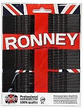 Духи, Парфюмерия, косметика Заколки-невидимки волнистые, черные 60 мм, 100 шт. - Ronney Professional Black Hair Bobby Pins