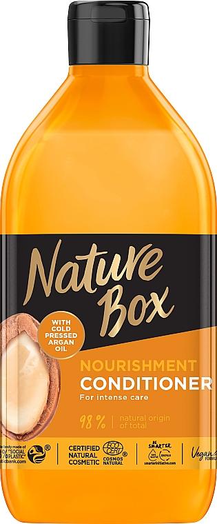 Бальзам для питания и интенсивного ухода за волосами, с аргановым маслом холодного отжима - Nature Box Nourishment Vegan Conditioner With Cold Pressed Argan Oil
