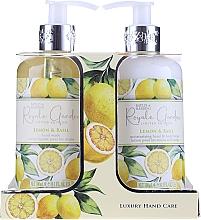 Духи, Парфюмерия, косметика Набор - Baylis & Harding Royale Garden Lemon & Basil (l/soap/300ml + b/lot/300ml)