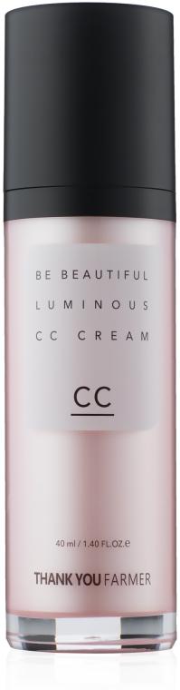 CC-крем для лица - Thank You Farmer Be Beautiful Luminous CC Cream SPF30 PA++
