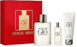 Духи, Парфюмерия, косметика Giorgio Armani Acqua Di Gio Pour Homme - Набор (edt/100ml + edt/15ml + sh/gel 75ml)