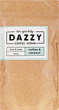 """Духи, Парфюмерия, косметика Кофейный скраб для лица и тела """"Кофе и кокос"""" - Dazzy Coffee Face & Body Scrub Coffee & Cocos"""