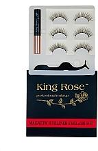 Духи, Парфюмерия, косметика Набор магнитных ресниц 3 пары с аппликатором и магнитной подводкой, 2089 - King Rose