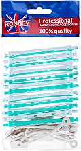 Духи, Парфюмерия, косметика Бигуди для холодной завивки 6/91 mm, бело-зеленые - Ronney Professional Flex Rollers RA 00038