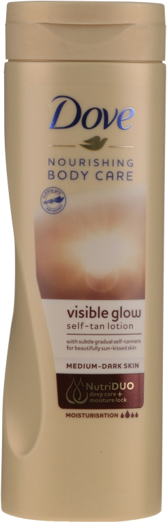 Лосьон для тела с эффектом автозагара - Dove Visible Glow Gradual Self-Tan Body Lotion Medium to Dark