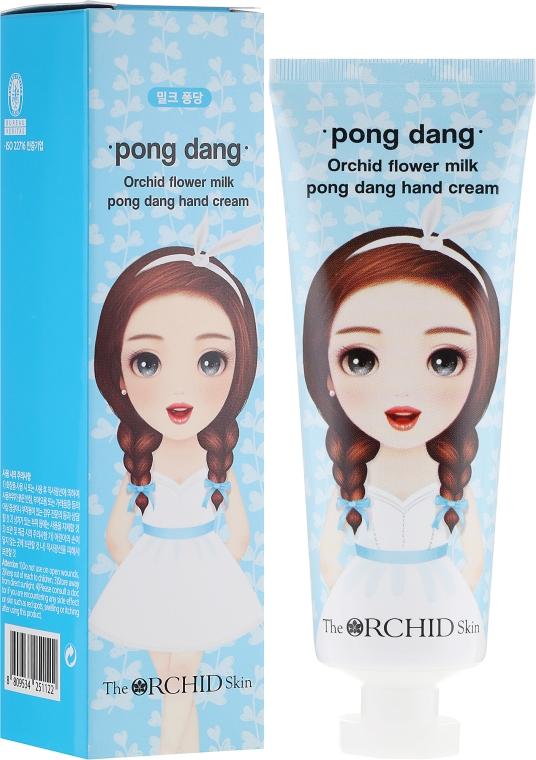 Крем для рук питательный - The Orchid Skin Orchid Flower Milk Pong Dang Hand Cream  — фото N1