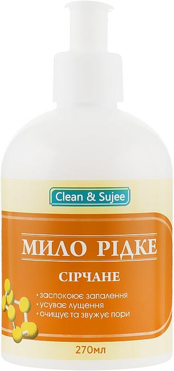 Мыло жидкое серное - Красота и Здоровье Clean & Sujee