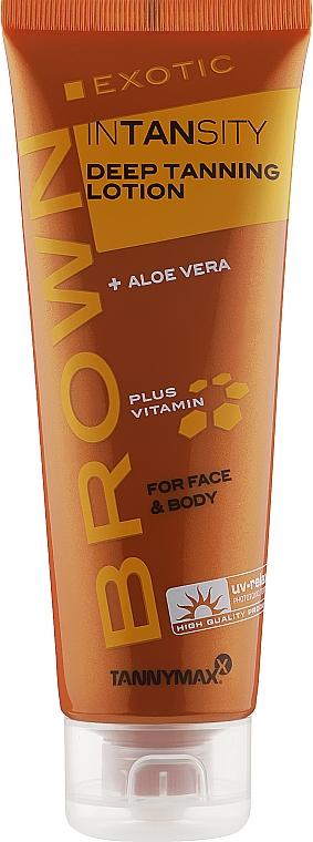Лосьон для загара в солярии с алое вера, витаминным комплексом, без бронзантов - Tannymaxx Brown Exotic Intansity Deep Tanning Lotion For Face & Body