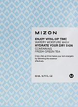 "Духи, Парфюмерия, косметика Тканевая маска ""Зеленый чай"" - Mizon Enjoy Vital-Up Time Watery Moisture Mask"