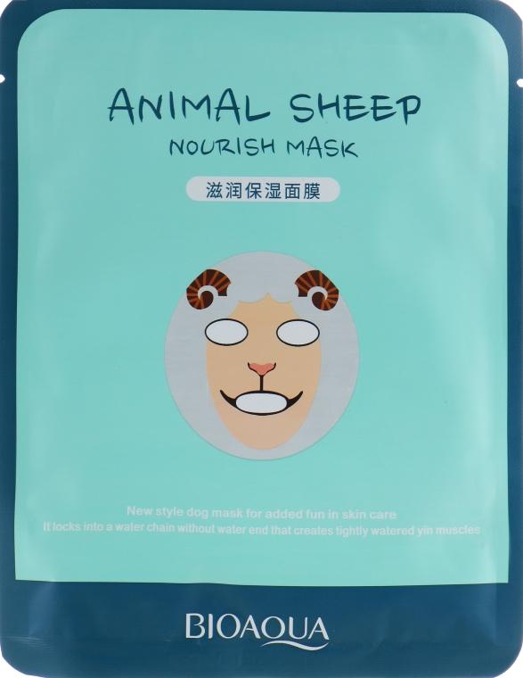 Питательная тканевая маска для лица с принтом - BioAqua Sheep Nourish Mask