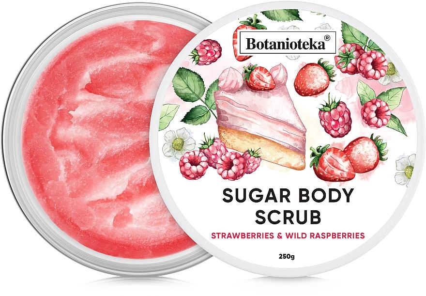 """Сахарный скраб для тела """"Земляника и лесная малина"""" - Botanioteka Sugar Body Scrub Strawberries & Wild Raspberries"""