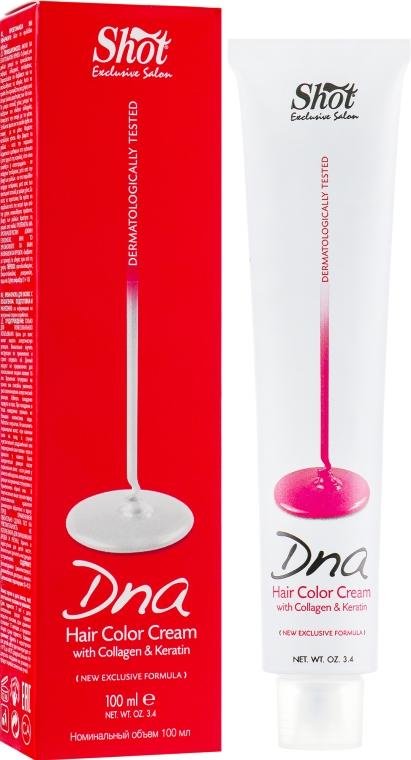 Крем-краска для волос с колагеном - Shot Dna Hair Color Crem