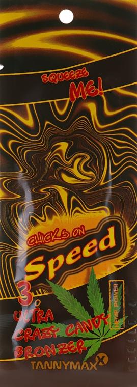 Крем для загара в солярии ультратемный бронзант с элементами легкого автозагара - Tannymaxx Chicks On Speed Candy Speed Ultra Bronzer (пробник)