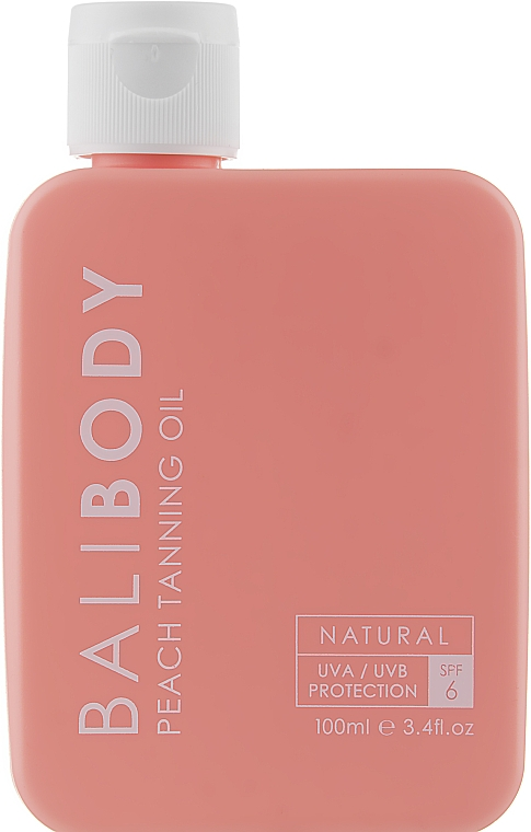 Масло для загара с персиком с защитой - Bali Body Peach Tanning Oil SPF6