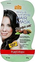 "Духи, Парфюмерия, косметика Маска для волос ""Масло жожоба"" - Purederm Botanical Choice Shiny&Hydrating Jojoba Oil Hair Mask"