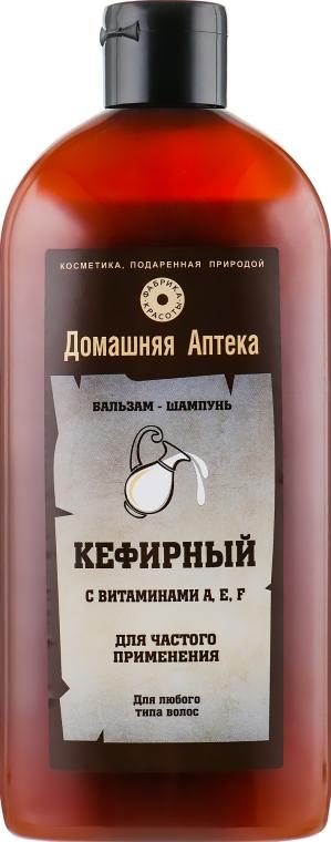 Бальзам-шампунь Кефирный с витаминами A,E,F - Фабрика красоты Домашняя Аптека