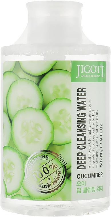 """Очищающая вода """"Огуречная"""" - Jigott Cucumber Deep Cleansing Water"""