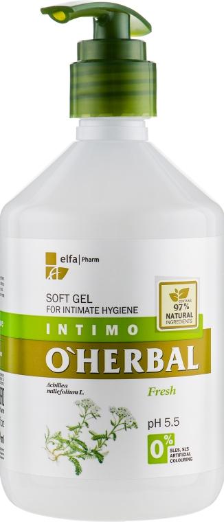 Ніжний гель для інтимної гігієни з екстрактом деревію - Elfa Pharm O Herbal Soft Gel For Intimate — фото N1