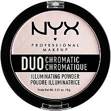 Духи, Парфюмерия, косметика Хайлайтер для лица - NYX Professional Makeup Duo Chromatic Illuminating Powder