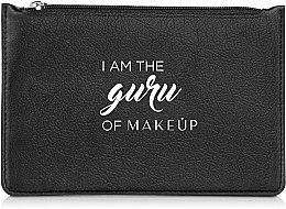 """Парфумерія, косметика Косметичка плоска, чорна """"I am the guru of MakeUp"""" - MakeUp"""