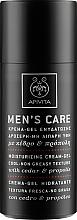 Духи, Парфюмерия, косметика Увлажняющий крем-гель с нежирной текстурой и охлаждающим эффектом с кедром и прополисом - Apivita Men Men's Care Moisturizing Cream-Gel With Cedar & Propolis