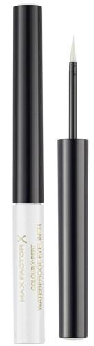 Водостойкая подводка для глаз - Max Factor Colour X-Pert Metallic White Waterproof Eyeliner