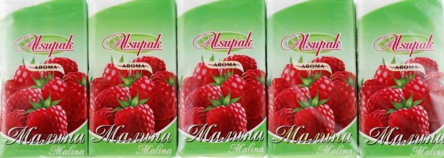 """Бумажные носовые платки, с ароматом """"Малина"""" - Alsupak"""