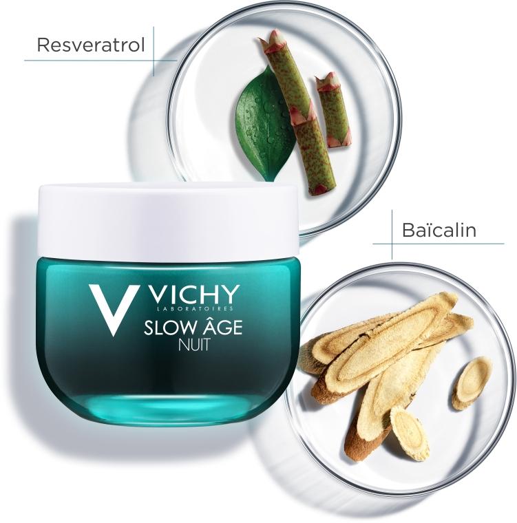 Ночная крем-маска для коррекции признаков старения кожи - Vichy Slow Age Fresh Cream & Mask — фото N8