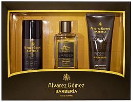 Духи, Парфюмерия, косметика Alvarez Gomez Agua De Colonia Concentrada Barberia - Набор (edc/150ml + deo/150ml + sh/gel/230ml)