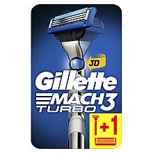 Духи, Парфюмерия, косметика Бритва с 2 сменными кассетами - Gillette Mach 3 Turbo 3D Motion