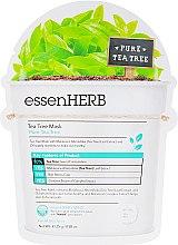 Успокаивающая тканевая маска с экстрактом чайного дерева для проблемной кожи - EssenHerb Tea Tree Mask — фото N1