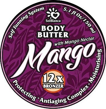 """Твердое масло-автозагар для тела """"Манго"""" - SolBianca Mango Body Butter"""