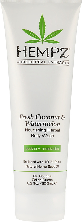 Гель для душа «Кокос и Арбуз» - Hempz Fresh Coconut & Watermelon Nourishing Herbal Body Wash