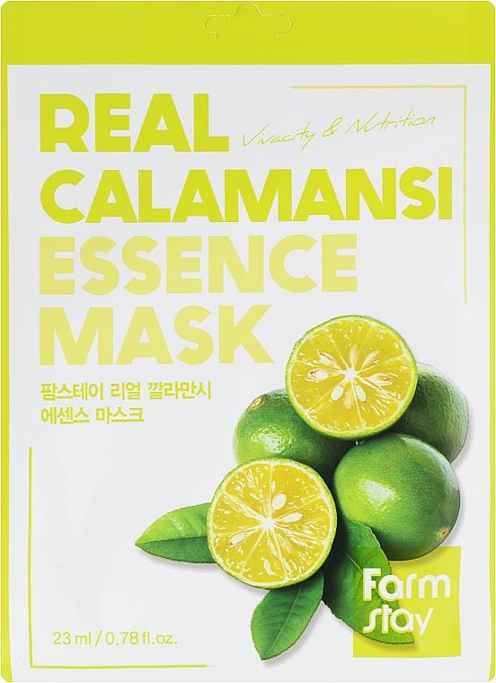 Витаминная маска для лица с экстрактом каламанси - Farmstay Real Calamansi Essence Mask