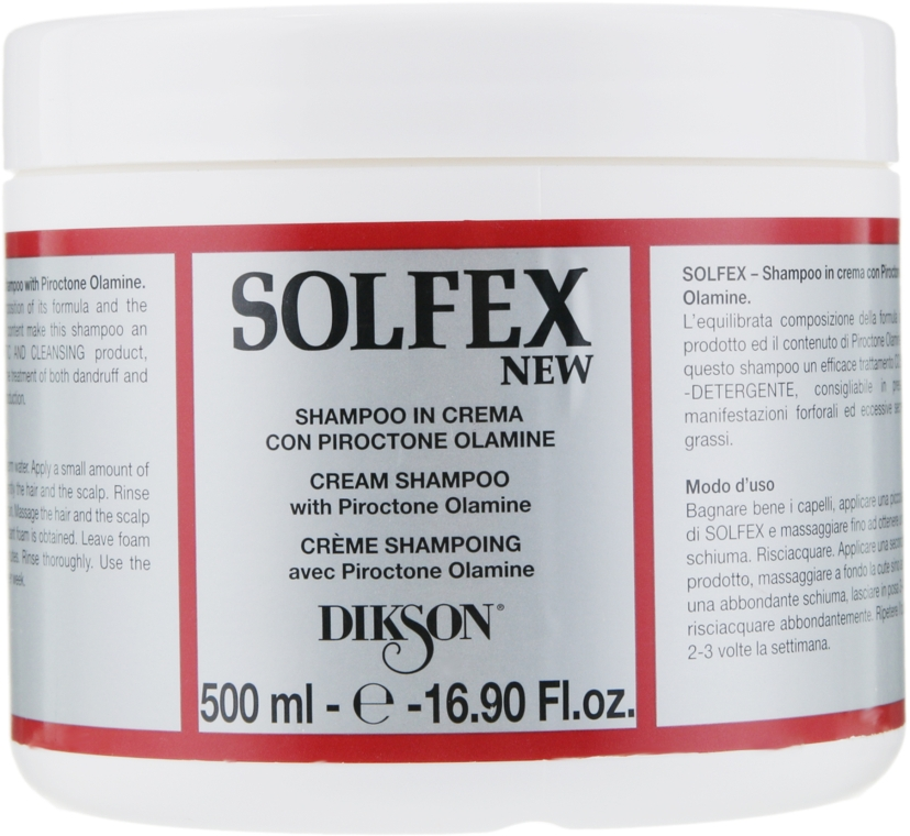 Шампунь-бальзам с проктоноламином - Dikson Solfex Shampoo and Cream