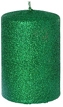 Духи, Парфюмерия, косметика Декоративная свеча, зеленая, 7x10 см - Artman Glamour