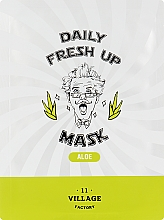 Духи, Парфюмерия, косметика Тканевая маска с экстрактом алоэ - Village 11 Factory Daily Fresh Up Mask Aloe