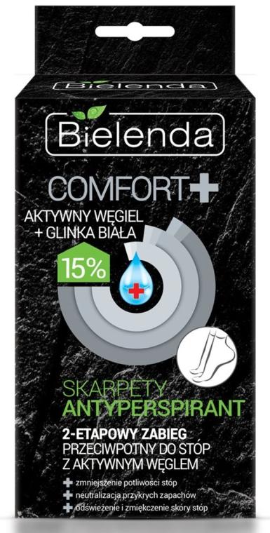 "Маска-носки для ног ""Антиперспирант кожи"" - Bielenda Carbo Detox Mask For Legs"