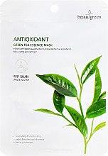 Духи, Парфюмерия, косметика Тканевая маска c экстрактом зеленого чая - Beauugreen Antioxidant Green Tea Essence Mask