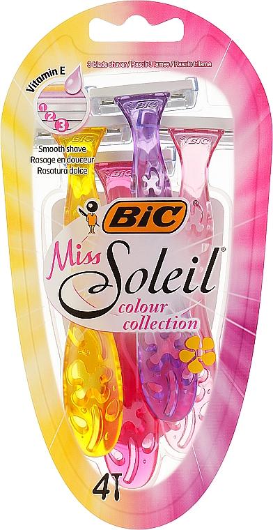 """Набір бритв без змінних картриджів """"Miss Soleil Colour Collection"""", 4 шт. - Bic — фото N1"""