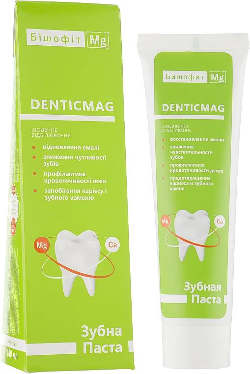 Отбеливающая зубная паста с бишофитом - Бишофит Mg++ DenticMag