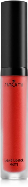 Жидкая матовая помада для губ - Naomi Liquid Lipstick Matte