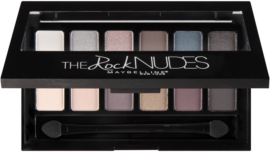 Палетка теней для век из 12 оттенков - Maybelline New York The Rock Nudes Eye Shadow Palette  — фото N3