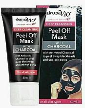 Духи, Парфюмерия, косметика Отшелушивающая маска с углем - Derma V10 Deep Cleansing Peel Off Charcoal Mask