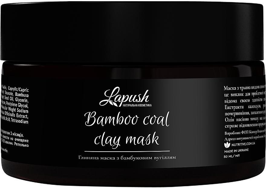 Глиняная маска для лица с бамбуковым углем - Lapush Bamboo Coal Clay Mask