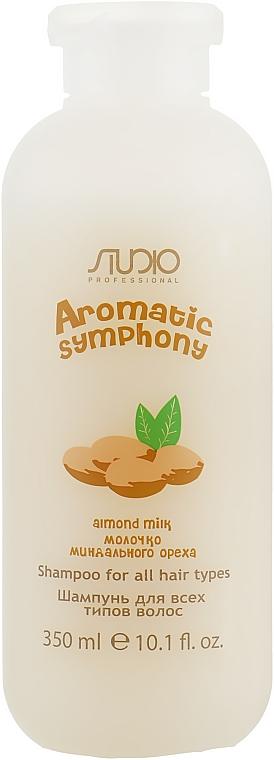 Шампунь для всех типов волос с молочком миндального ореха - Kapous Professional Studio Shampoo Almond Milk